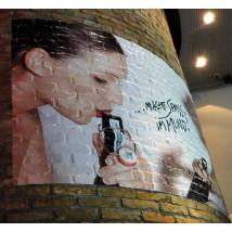 Brick wall graphic