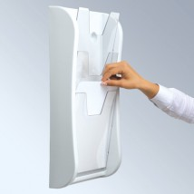 White Wall Mounted Literature Dispenser