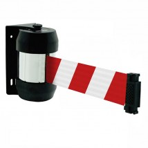 Striped warning wall safety tape