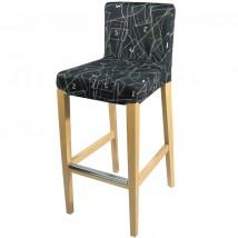 Custom Printed wooden bar stool