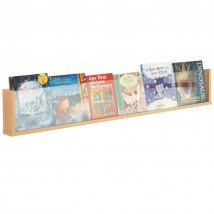 Wooden wall mounted literature rack