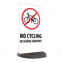 School Economy Pavement Sign - No Cycling In School Grounds