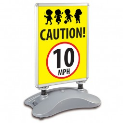 School Pavement Sign - Caution 10mph