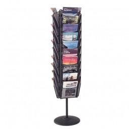 30 pocket rotating literature stand