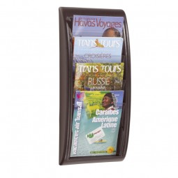 A4 Wall Mount Brochure Holder - Black
