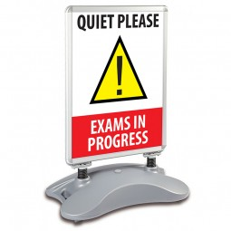 School A1 Windjammer Pavement Sign - Quiet Please Exams in Progress