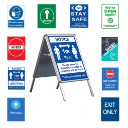 A Board with COVID-19 Posters