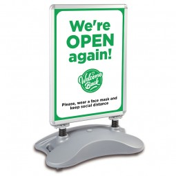 We're Open Again - COVID-19 A1 Windjammer Pavement Sign