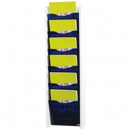 Blue acrylic front brochure dispenser