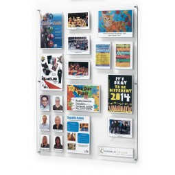 Polycarbonate pocket notice board
