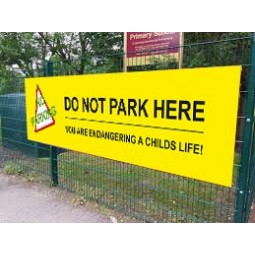 School Printed Banner - Do Not Park Here