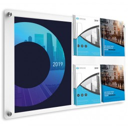 Acrylic Wall Mounted Poster and Brochure Holder
