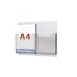 Cable System Leaflet Dispenser - 2 x A4 on A2 Centres