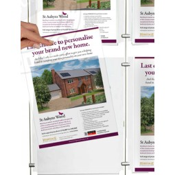 Estate Agent acrylic poster pocket