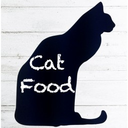 Cat shaped kitchen chalkboard