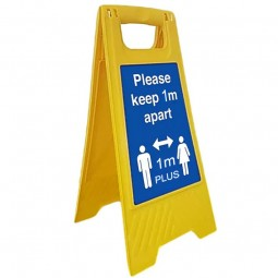 Free standing social distancing sign