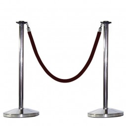 Stainless steel rope and post stanchion