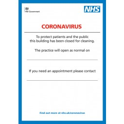Printed Indoor Poster - Coronavirus Design 4