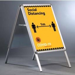 "Social Distancing 20""x30"" A Board - 1m Apart Notice"