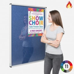 Lockable Flame Resistant Pinnable Notice Board