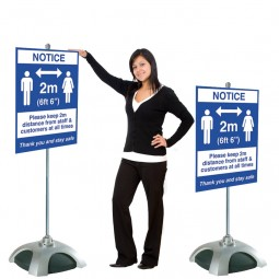 Social Distancing Sign Holder - 2m Apart Design or Upload Your Artwork