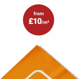 Economy PVC banner add your own eyelets