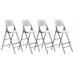 Pack of 4 Folding Bar Stools for events