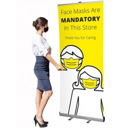 Face Mask Mandatory Banner Stand