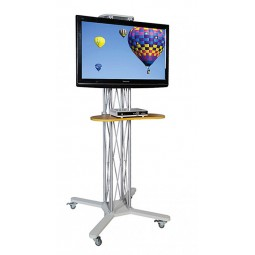 Mobile stand takes LCD and plasma monitors up to 50""