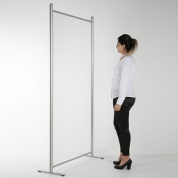 Floor Standing Protective Clear Screen Separator - Trade