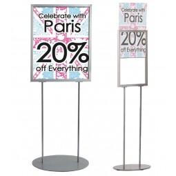 Floor standing poster frame
