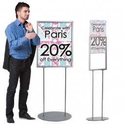 Floor Standing Retail Poster Holder