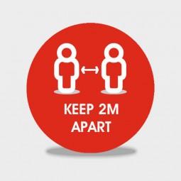Keep 2m Aprt social distancing floor stickers