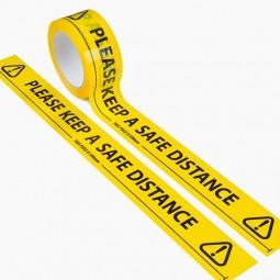 Keep a Safe Distance Floor Marking Tape - 66m Roll