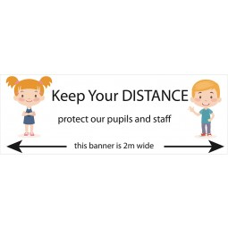 Social Distancing School Banners - Design 1