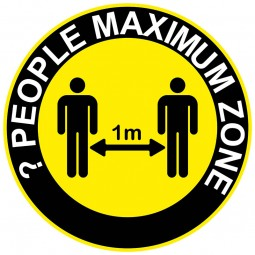 X People Maximum Zone - Social Distancing Floor Stickers - Pack of 6