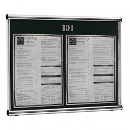 Restaurant Menu Frame Wall Mounted