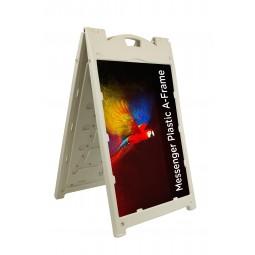Messenger Plastic A-Frame Pavement Sign