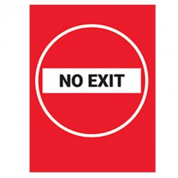 No Exit Red Background - Pack of 10 - A2 Poster or Sticker
