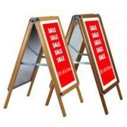Wood Effect Snap Shut A Board - Round Corners