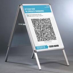 Covid Check-in QR Code Poster - A2 A Board