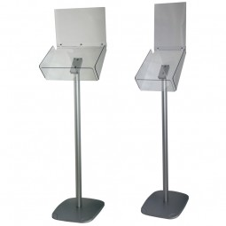 A4 Brochure Dispenser with Header Pocket