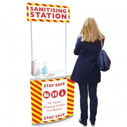 Supermarket Sanitising Station