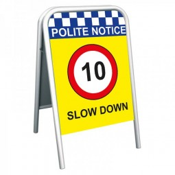School Pavement Sign - Slow Down 10mph