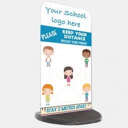 School Social Distancing Pavement Sign