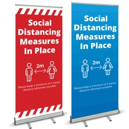 Social Distancing Banner Stand