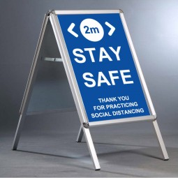 """Social Distancing 20""""x30"""" A Board - INCLUDING 2m Stay Safe posters"""