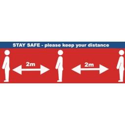 Social Distancing PVC Banners - Design 2