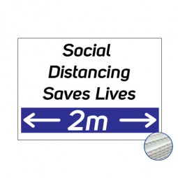 Printed Correx Signs - Pack of 10 - Social Distancing 2m