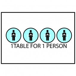 1 Table 1 Person - Pack of 10 - A2 Poster or Sticker